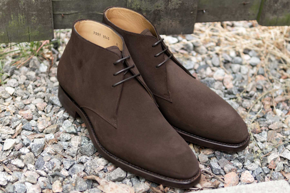 Carlos Santos 7991 Chukka Boots in Dark Brown Suede for The Noble Shoe 3