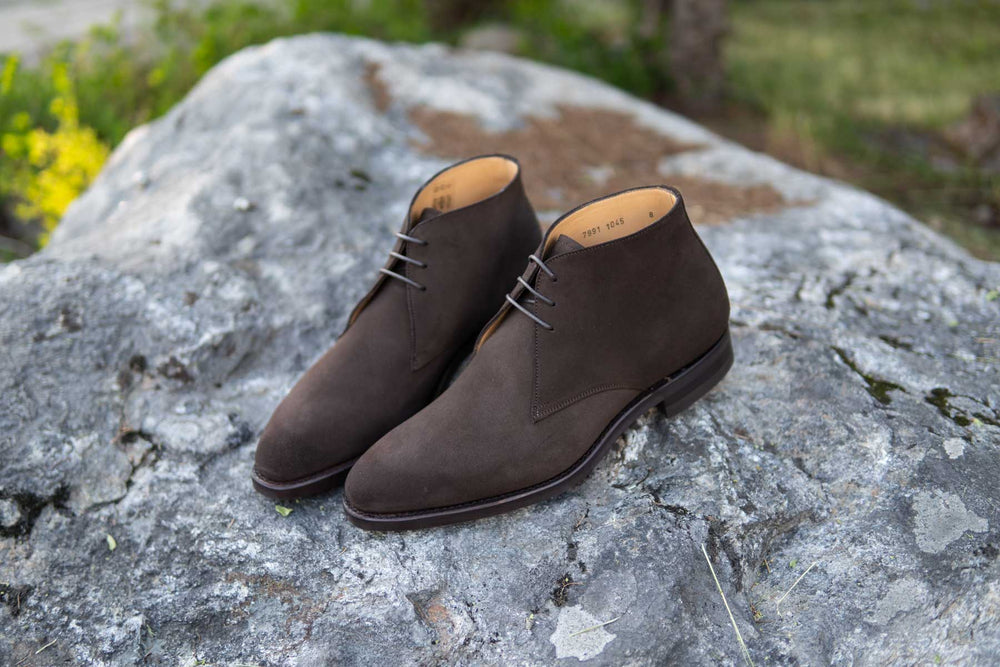 Carlos Santos 7991 Chukka Boots in Dark Brown Suede for The Noble Shoe 5