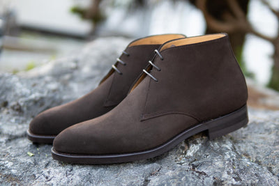 Carlos Santos 7991 Chukka Boots in Dark Brown Suede for The Noble Shoe 6
