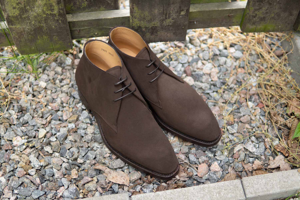 Carlos Santos 7991 Chukka Boots in Dark Brown Suede for The Noble Shoe 4