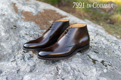 Carlos Santos 7991 Chukkas in Coimbra Patina for The Noble Shoe
