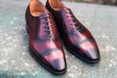 Carlos Santos 8618 Handgrade adelaide in Wine Shadow for The Noble Shoe 6