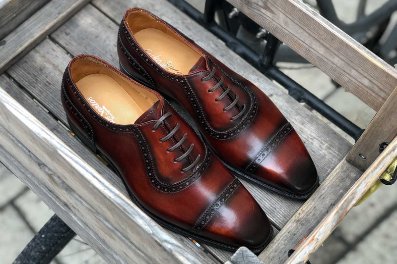 Carlos Santos 8618 Handgrade adelaide in Wine Shadow for The Noble Shoe 2