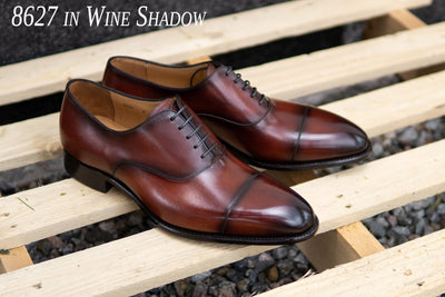 Carlos Santos 8627 Oxford in Wine Shadow for The Noble Shoe
