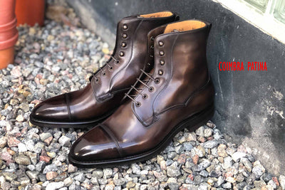 Carlos Santos 9156 Field Boot in Coimbra Patina GMTO for The Noble Shoe
