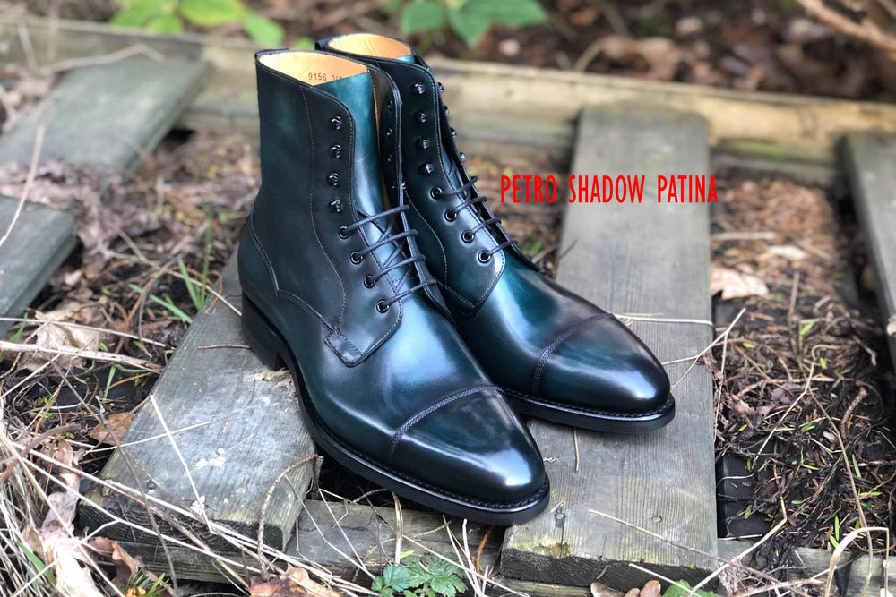 Carlos Santos 9156 Field Boot in Petro Shadow Patina GMTO for The Noble Shoe