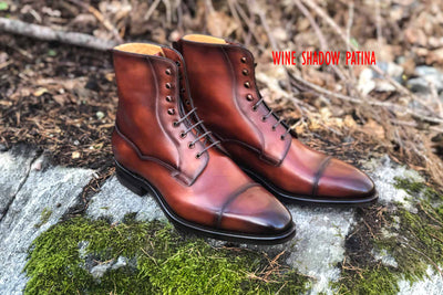 Carlos Santos 9156 Field Boot in Wine Shadow Patina GMTO for The Noble Shoe