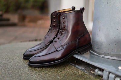 Carlos Santos 9380 Split Toe Field Boots in Patina GMTO for The Noble Shoe 10