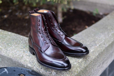 Carlos Santos 9380 Split Toe Field Boots in Patina GMTO for The Noble Shoe 1