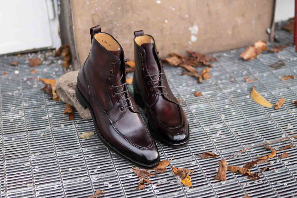 Carlos Santos 9380 Split Toe Field Boots in Patina GMTO for The Noble Shoe 2