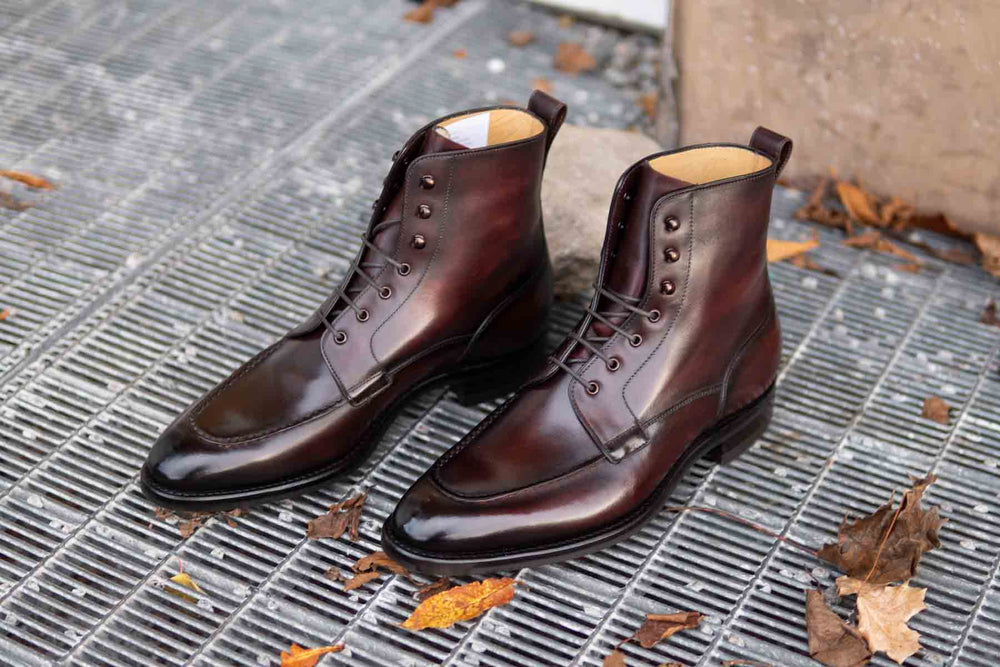 Carlos Santos 9380 Split Toe Field Boots in Patina GMTO for The Noble Shoe 3