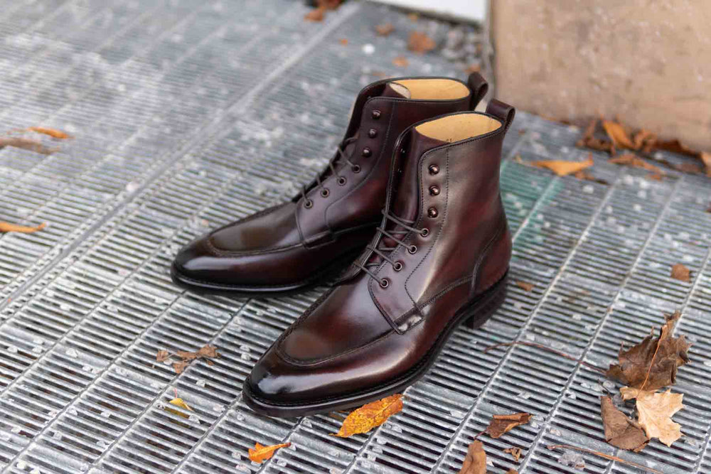 Carlos Santos 9380 Split Toe Field Boots in Patina GMTO for The Noble Shoe 4