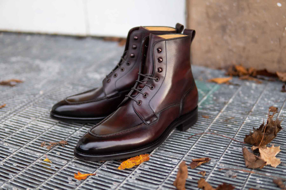 Carlos Santos 9380 Split Toe Field Boots in Patina GMTO for The Noble Shoe 5
