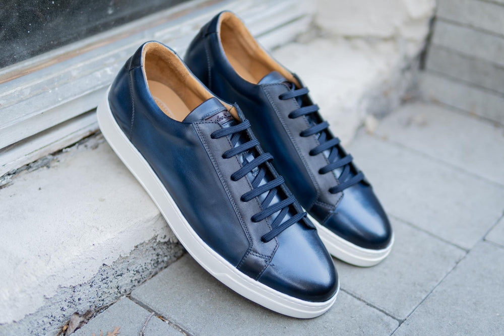 Carlos Santos 9617 Leather Sneakers in Norte for The Noble Shoe 10