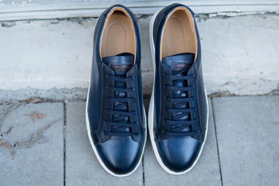 Carlos Santos 9617 Leather Sneakers in Norte for The Noble Shoe 9