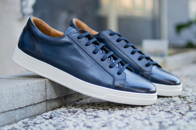 Carlos Santos 9617 Leather Sneakers in Norte for The Noble Shoe 2