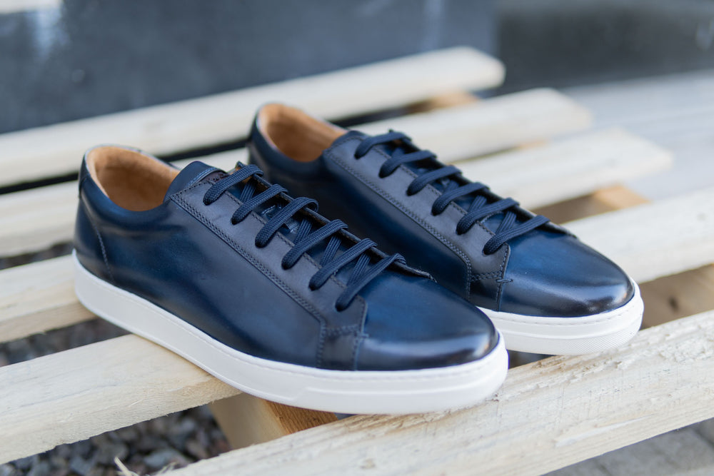 Carlos Santos 9617 Leather Sneakers in Norte for The Noble Shoe 3