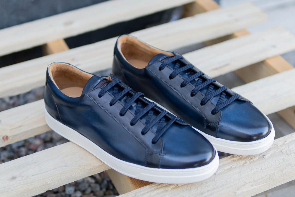 Carlos Santos 9617 Leather Sneakers in Norte for The Noble Shoe 5
