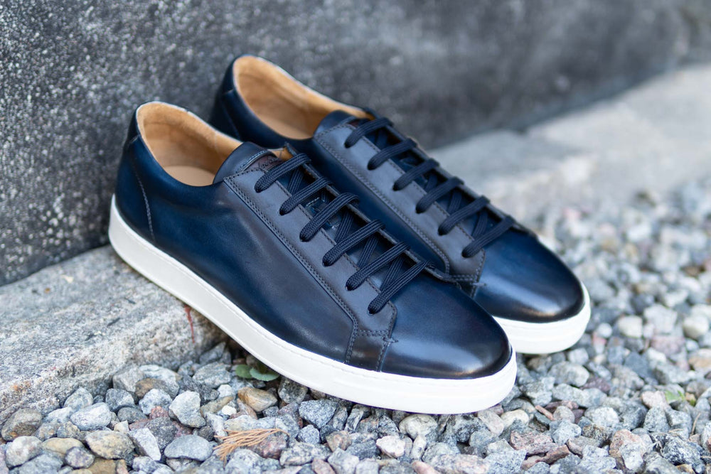 Carlos Santos 9617 Leather Sneakers in Norte for The Noble Shoe 1