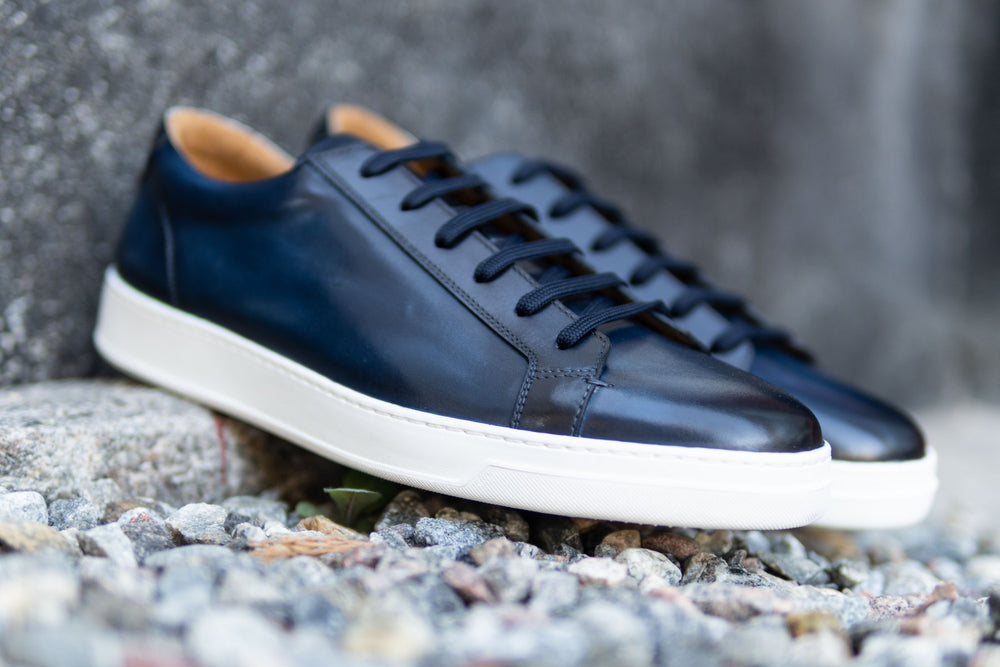 Carlos Santos 9617 Leather Sneakers in Norte for The Noble Shoe 4