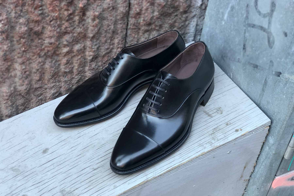 Carlos Santos 9899 Handgrade Oxford in Black Calf for The Noble Shoe 11