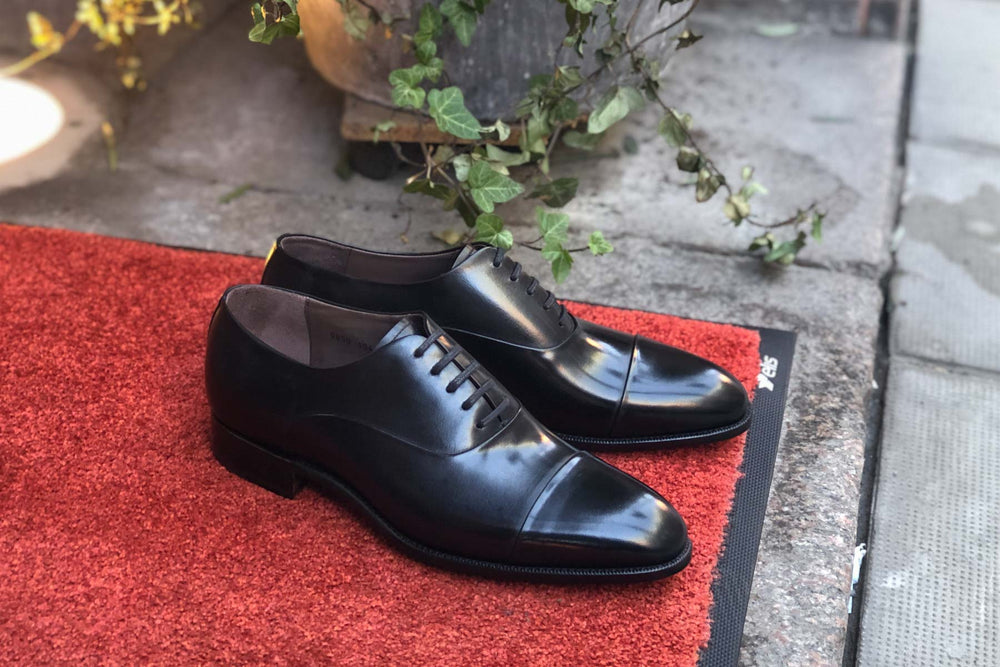 Carlos Santos 9899 Handgrade Oxford in Black Calf for The Noble Shoe 12