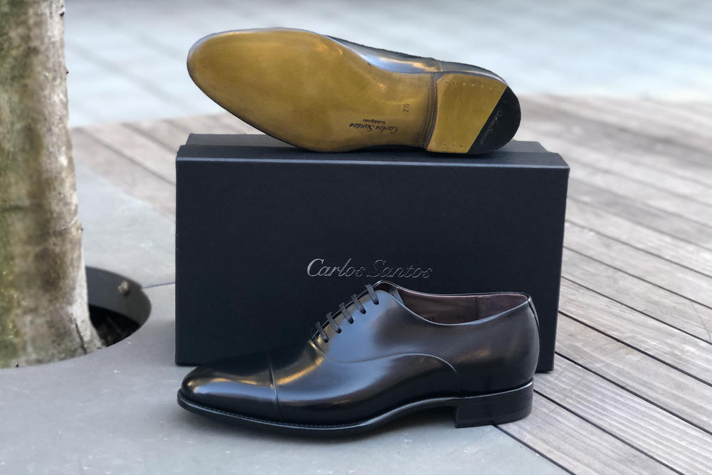 Carlos Santos 9899 Handgrade Oxford in Black Calf for The Noble Shoe 1