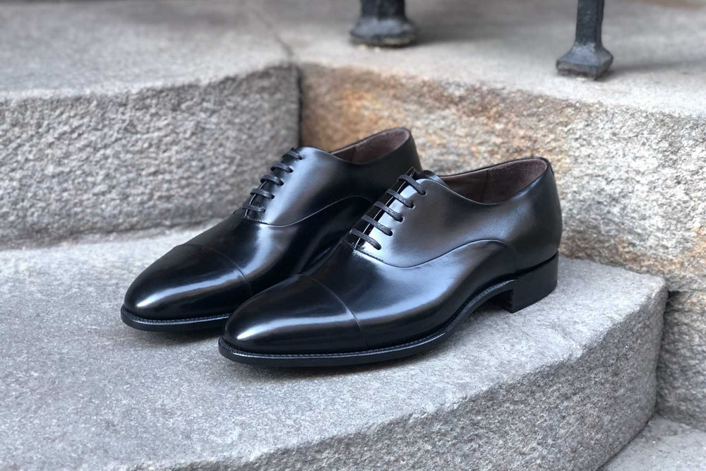 Carlos Santos 9899 Handgrade Oxford in Black Calf for The Noble Shoe 6