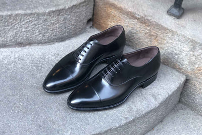 Carlos Santos 9899 Handgrade Oxford in Black Calf for The Noble Shoe 2