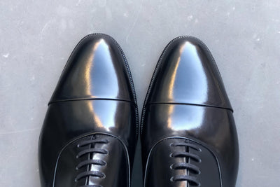 Carlos Santos 9899 Handgrade Oxford in Black Calf for The Noble Shoe 4