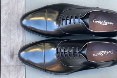 Carlos Santos 9899 Handgrade Oxford in Black Calf for The Noble Shoe 7