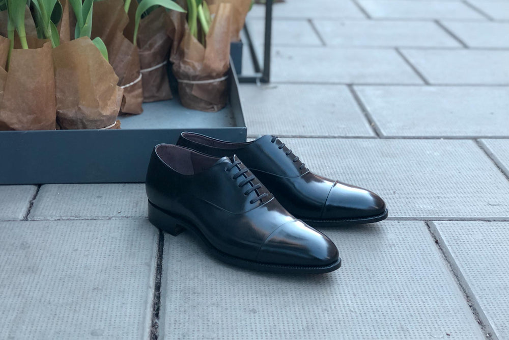 Carlos Santos 9899 Handgrade Oxford in Black Calf for The Noble Shoe 9