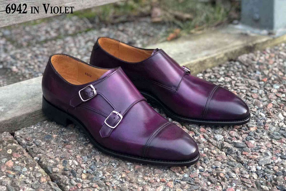 Carlos Santos 6942 in Violet Patina for The Noble Shoe