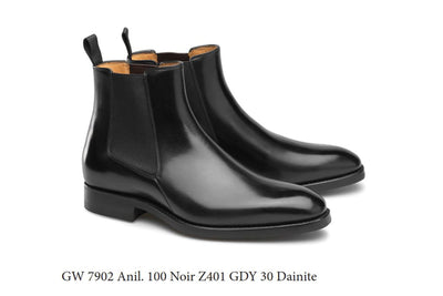 Carlos Santos 7902 Chelsea Boots in Black Calf for The Noble Shoe