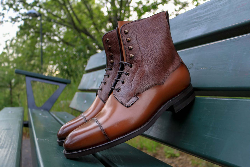 Carlos Santos 9156 Field Boot in Grain/Calf Side View