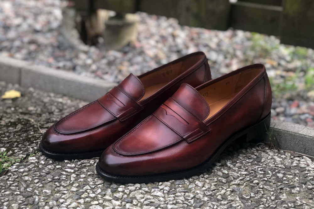 Carlos Santos 9176 Penny Loafer for The Noble Shoe - Left Side View