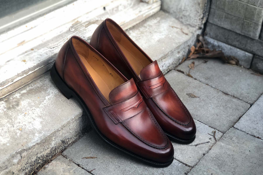 Carlos Santos 9176 Penny Loafer for The Noble Shoe - Right Side View