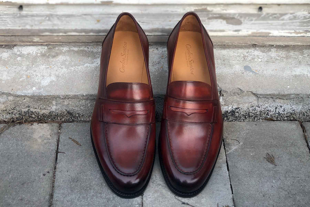Carlos Santos 9176 Penny Loafer for The Noble Shoe - Top Down