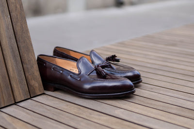 Crockett & Jones Cavendish in Burgundy Color 8 Shell Cordovan for The Noble Shoe 4