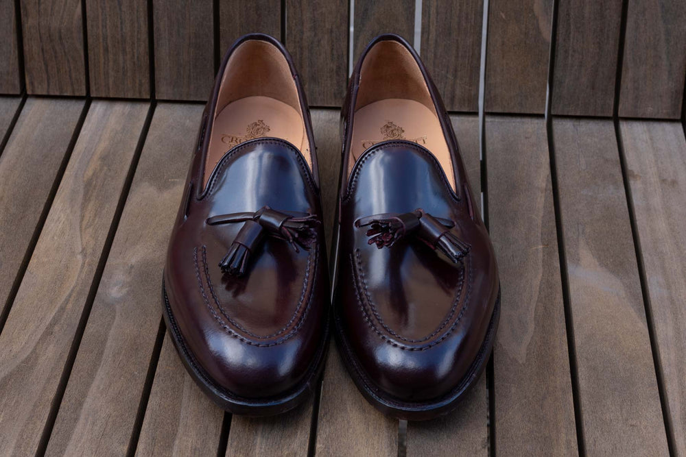 Crockett & Jones Cavendish in Burgundy Color 8 Shell Cordovan for The Noble Shoe 5
