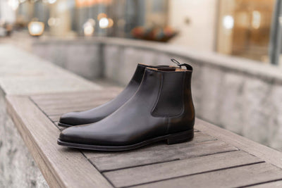 Crockett & Jones Lingfield Chelsea Boots in Black Calf for The Noble Shoe 3