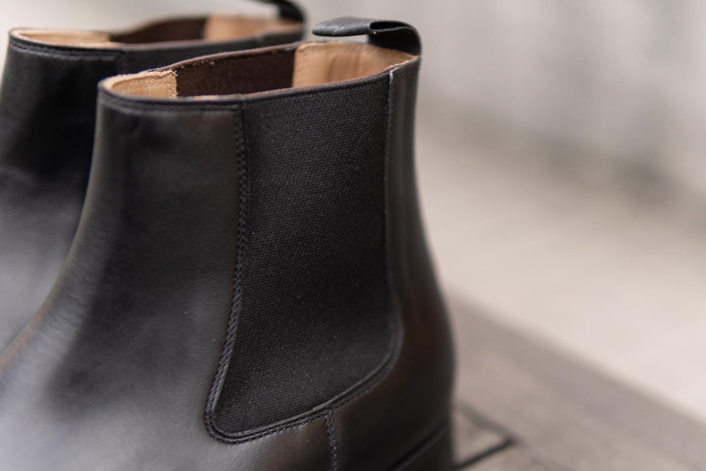 Crockett & Jones Lingfield Chelsea Boots in Black Calf for The Noble Shoe 4