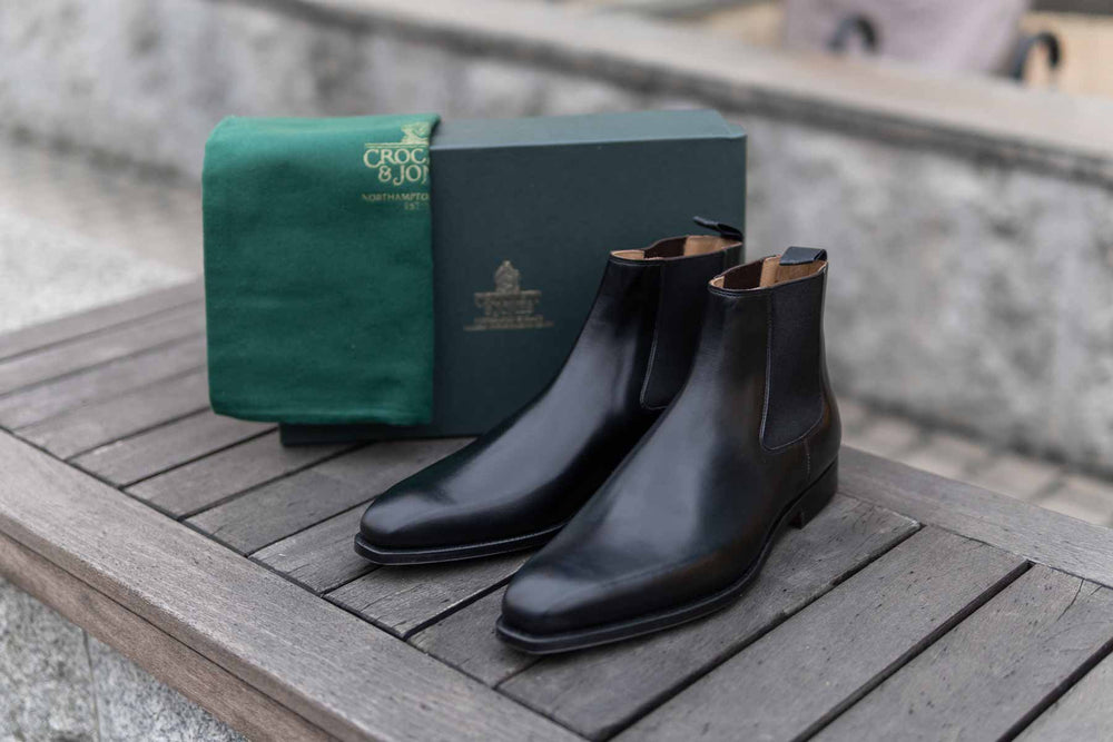 Crockett & Jones Lingfield Chelsea Boots in Black Calf for The Noble Shoe 6