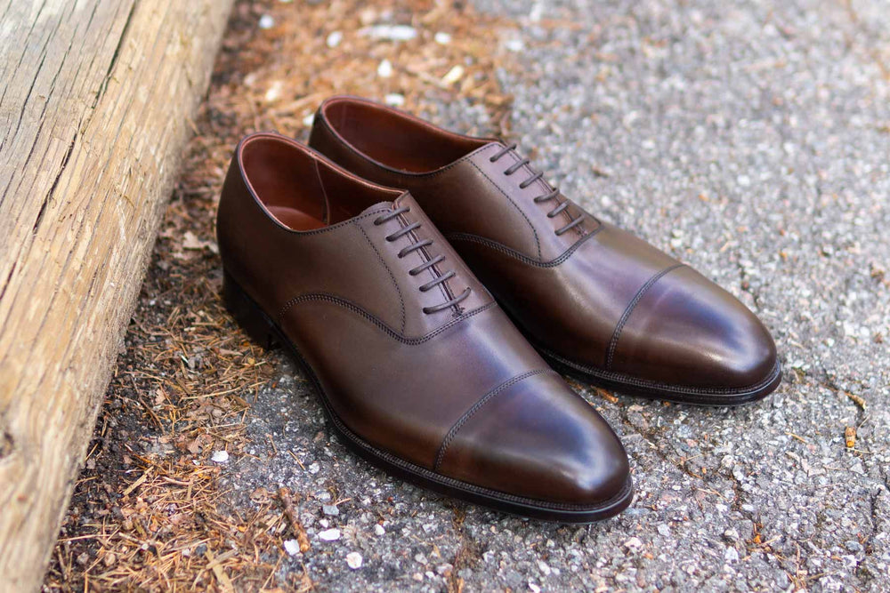 Crockett & Jones Lonsdale Handgrade Oxford in Dark Brown Calf for The Noble Shoe 6