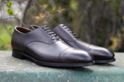 Crockett & Jones Lonsdale Handgrade Oxford in Dark Brown Calf for The Noble Shoe 3