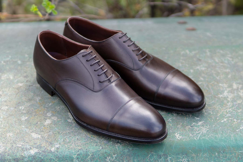 Crockett & Jones Lonsdale Handgrade Oxford in Dark Brown Calf for The Noble Shoe 1