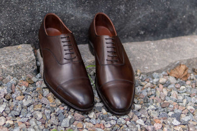 Crockett & Jones Lonsdale Handgrade Oxford in Dark Brown Calf for The Noble Shoe 4