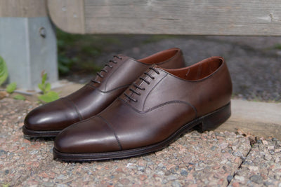 Crockett & Jones Lonsdale Handgrade Oxford in Dark Brown Calf for The Noble Shoe 2