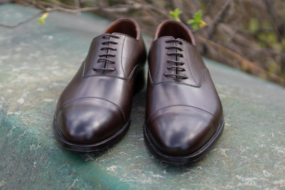 Crockett & Jones Lonsdale Handgrade Oxford in Dark Brown Calf for The Noble Shoe 5