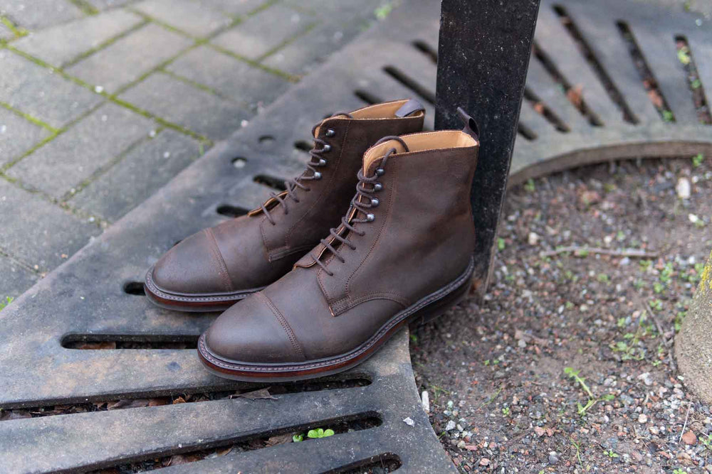 Crockett and Jones Coniston Dark Brown Roughout Suede for The Noble Shoe 1
